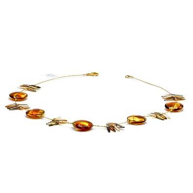 Suntradition Albatross Amber Amber Murano Glass Necklace Genuine Venice JEWELLRY