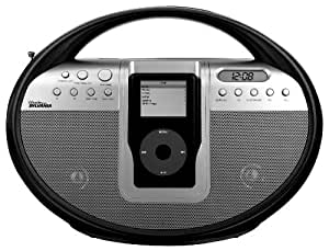 iMode Digital AM/FM Stereo Radio with Docking Station for iPod (Black)