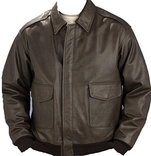 Burk's Bay Men's Napa Leather Bomber Jacket M - Bay Leather Jacket