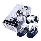 Laribbons Baby Boy Socks & Bow Tie Newborn Baby Gift Set