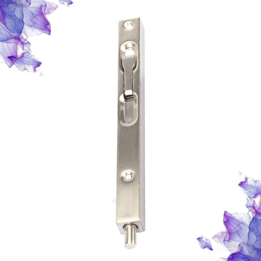 plateado iplusmile Cerrojo de seguridad oculto para puertas compuestas falsas longitud 150 mm puertas de madera puertas dobles