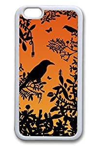Bird Silhouette Slim Soft Cover for iPhone 6 Plus Case ( 5.5 inch ) TPU White Cases