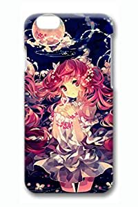 Anime Redhead Girl Cute Hard Cover For iPhone 6 Plus Case ( 5.5 inch ) PC 3D Cases