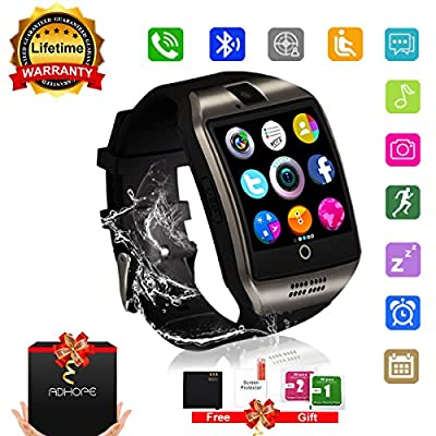 Bluetooth Smart Watch Touchscreen with Camera,Unlocked Watch Cell Phone with Sim Card,Smart Wrist Watch,Waterproof Smartwatch Phone for Android IOS Iphone 7 Plus 6 6S Men Women Kids