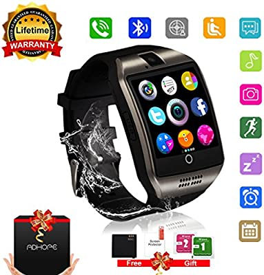 Bluetooth Smart Watch con cámara, pantalla táctil desbloqueada ...