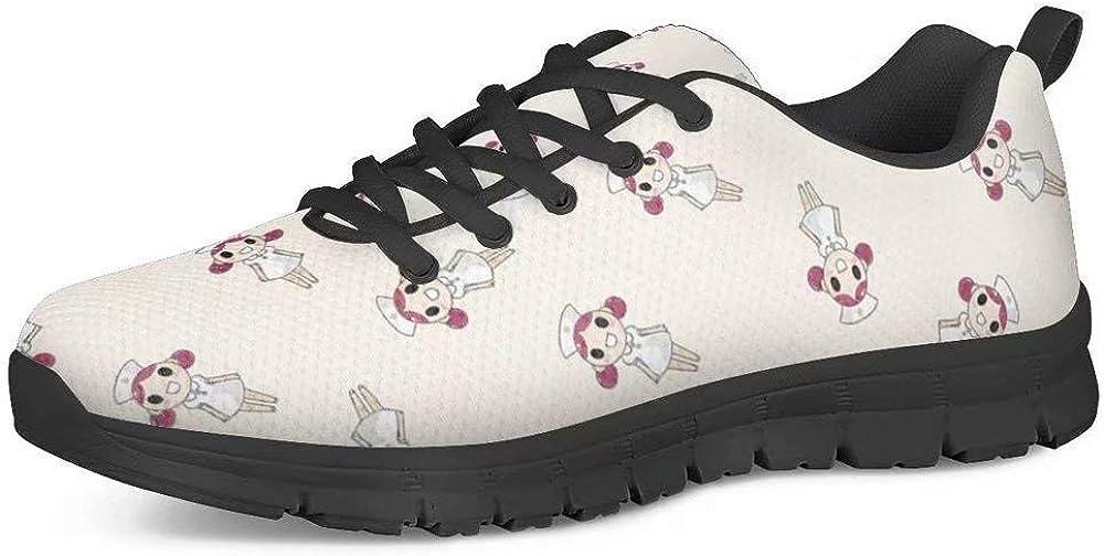 Zapatillas para Mujer de Polero 35-48 EU Caminar Planas con Cordones Casuales para Tenis para Correr para Calle o Correr Ligeras con Malla