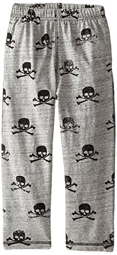 Pants Wes Willy Boys And (Wes & Willy Boys' Little Speckled Skull Pant, Ash, 4)