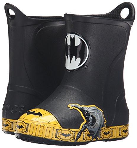 9e236ac135634f crocs Boys  Rubber Bump It Batman K Rain Boot