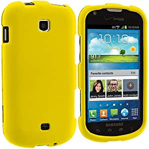 Accessory Planet(TM) Yellow Hard Snap-On Matte Rubberized Case Cover Accessory for Samsung Galaxy Stellar i200
