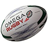 The Omega Rugby Precision training rugby ball is constructed with a top quality rubber outer, including a long lasting dimpled finish, for superior grip and tackiness in all weather conditions. Hand stitched and balanced for superior flight a...