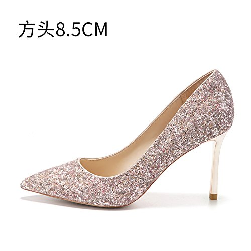 Sandals bride lady The shoes shoes evening High shoes 5CM high HUAIHAIZ Court wedding crystal pink Pumps 8 Heels boots Shoes companions wedding heel B 04Cpqt