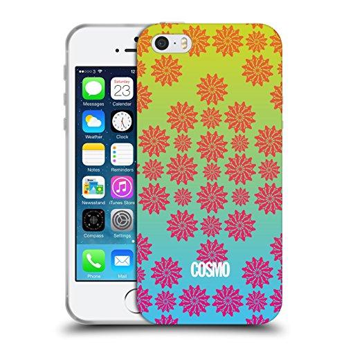 Official Cosmopolitan Ombre 2 Floral Patterns Soft Gel Case for Apple iPhone 5 / 5s / SE
