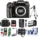 Pentax K-1 Mark II DSLR Camera (Body Only)- Bundle 64GB SDHC Card, Camera Case, Tripod, Spare Battery, Compact Charger, Cleaning Kit, Memory Wallet, Card Reader, Flip Flash Bracket, Software Pack
