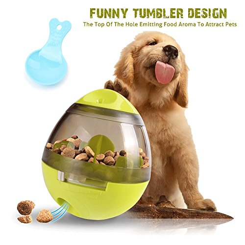 Pet Feeder Ball Dog IQ Treat Dispenser Interactive Toy For Dogs & Cats Prefect For Fun Training Self-feeder Activity by FIRIK