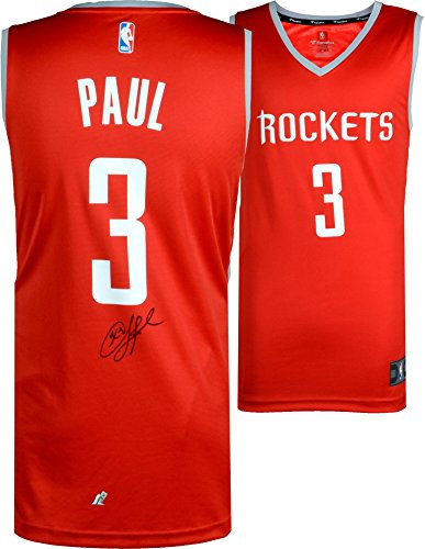 ockets Autographed Red Fanatics Replica Jersey - Fanatics Authentic Certified - Autographed NBA Jerseys (Autographed Authentic Nba Basketball Jersey)