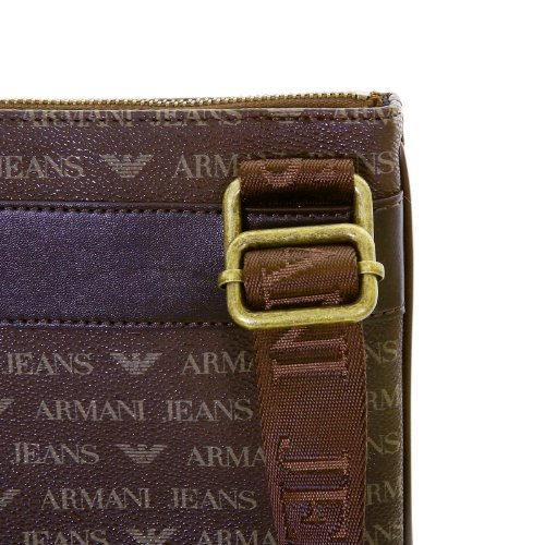 aa59fde86d56 Armani Jeans mens brown 06205 J4 logo small messenger bag - Import It All