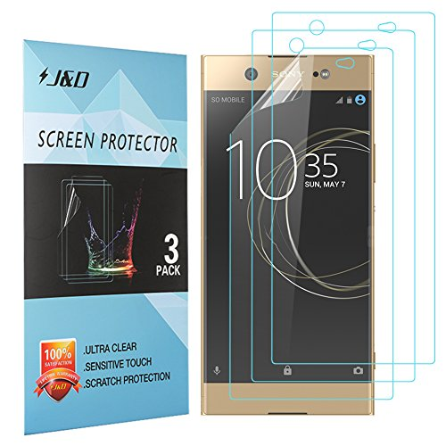 J&D Compatible for 3-Pack Xperia XA1 Ultra Screen Protector, [Not Full Coverage] Premium HD Clear Film Shield Screen Protector for Sony Xperia XA1 Ultra Crystal Clear Screen Protector (Protector Xperia J Screen Sony)