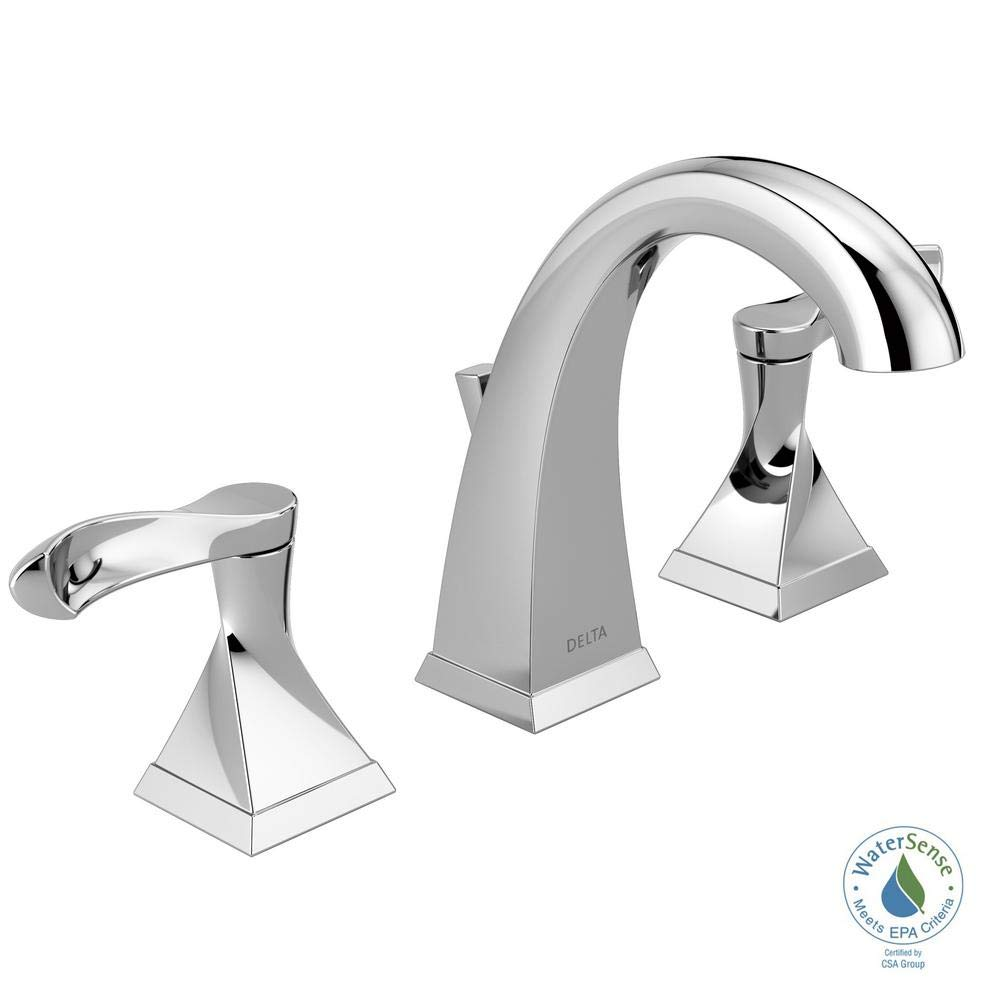 Widespread 2-Handle Bathroom Faucet in Chrome Delta 35741-SP-DST Everly 8 in