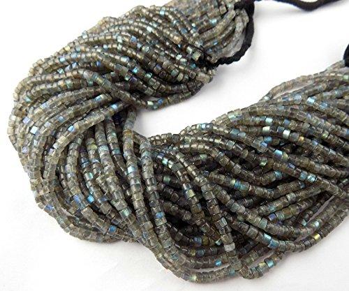 5 Strand Labradorite Tyre Gemstone Smooth Rondelle Beads 4-5mm Bead 13.5