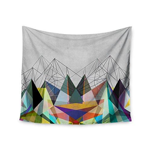 "KESS InHouse Mareike Boehmer ""Colorflash 3x"" Grey Rainbow Wall Tapestry, 51"" X 60"""" from Kess InHouse"