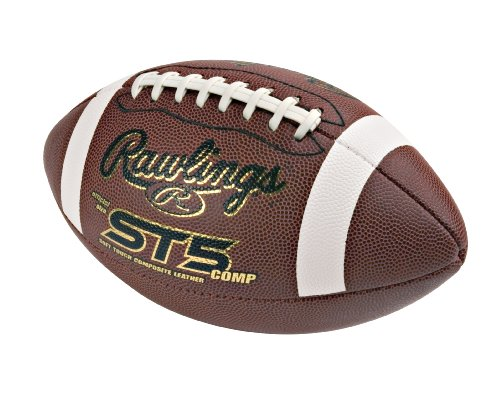 St5 Youth Composite Leather Football (Rawlings Soft Touch Composite Pee Wee Size Game)
