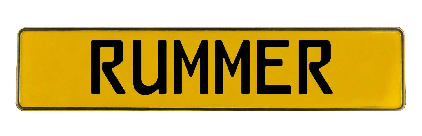 Rummer Yellow Stamped Aluminum Street Sign Mancave Vintage Parts 747102 Wall Art