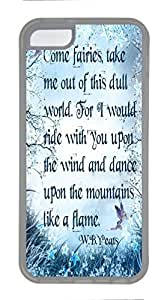 Transparent TPU Cellphone Back Case Cover for iPhone 5C Shell Skin for iPhone 5C with Dance Upon the Mountains