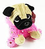 Card and Party Store Girls Soft Toy Pug Dog In Costume Pink Plush Cuddly Teddy Cute Gifts Kids Keel