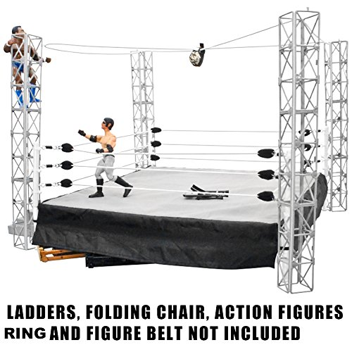 Figures Toy Company Highwire War Wrestling Action Figure Playset (Wwe Money In The Bank Cash In)