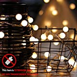 LouisChoice Extension Set of myCozyLite LED Globe String Lights, 33 Ft, 100 LED, (Extension ONLY, NO transformer)