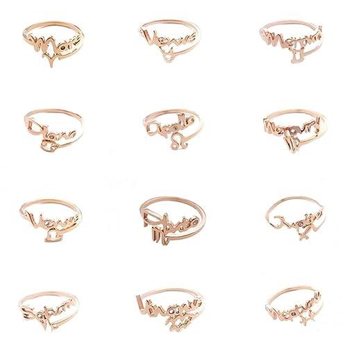 Amazon.com: Anillos D.B.MOOD con diseño de los signos ...