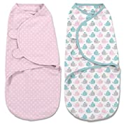 SwaddleMe Original Swaddle 2-PK (Small, Whales Pink/Stars)