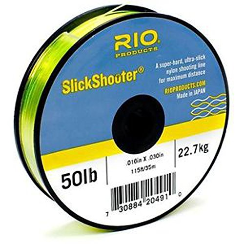 RIO Fly Fishing Fly Line Slick Shooter 115' 25Lb Fishing Line, Blue