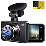 Ainhyzic Dash Cam 1080P Full HD Dash Camera for Cars Touch Button Screen Driving Recorder with 170° Wide Angle and Infrared Night Vision, Motion Detection, G Sensor, Loop Recording, Parking Monitor (Color: Black, Tamaño: 3.3 x 2.05 x 1.38 in)