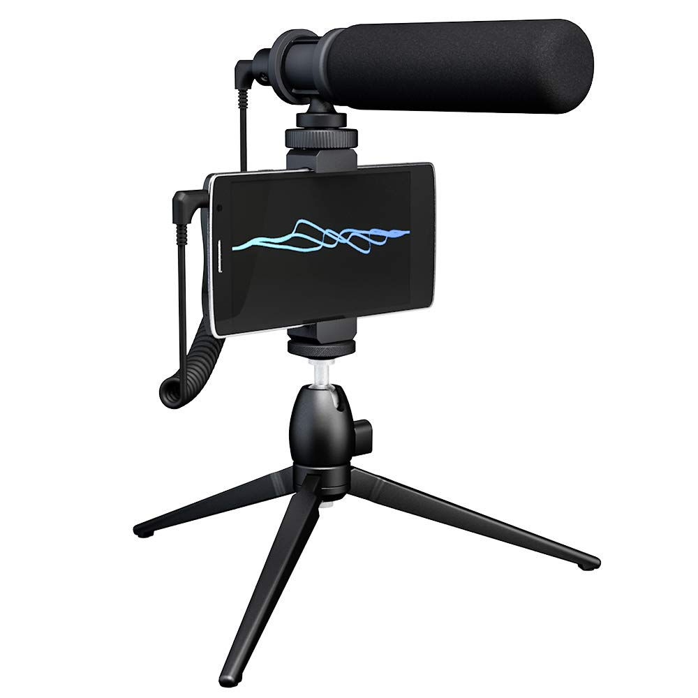 Smartphone DSLR Camera Computer Shotgun Video Microphone MAONO CM10S Super-Cardioid Condenser Detachable External Vlogging Interview Mic with Tripod for Canon, Sony, Nikon, Camcorder, Phone, PC by MAONO