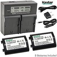 Kastar LCD Dual Smart Fast Charger & Battery (2 PACK) for Nikon EN-EL4, EN-EL4A, ENEL4, ENEL4A and Nikon D2Z, D2H, D2Hs, D2X, D2Xs, D3, D3S, D3X, F6 Camera, Nikon MB-D10, D300, D300S, D700, MB-40 Grip