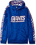 NFL New York Giants Slub Hoodie Pullover with Zebra Sleeves , Team Color, Small