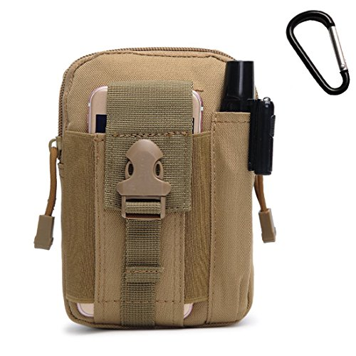 LingAo Tactical Molle Pouch EDC Utility Gadget Belt Waist Bag, Camping Hiking Outdoor Gear Cell Phone Holster Holder for iPhone - Bags Edc