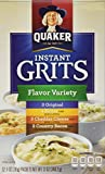 quaker cheese - Quaker Instant Grits Flavor Variety, 12-Count, Single Pack