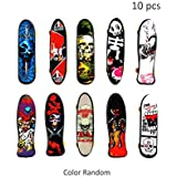 HanYoer 10 pcs Professional Mini Fingerboards Finger Skateboard, Kids Toy Gift Party Favors, Random Pattern