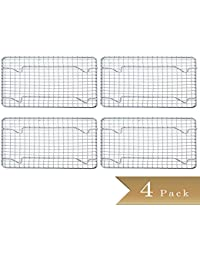 Want (Set of 4) Half-Size, Heavy Duty Wire Pan Grate - 8
