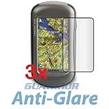 3x Garmin Oregon 450 450t 550 550t 400t 400i 400c 400 300 200 GPS Navigator Premium Anti-Glare Matte Finishing LCD Screen Protector Cover Guard Shield Protective Film Kit (3 Pieces by GUARMOR)