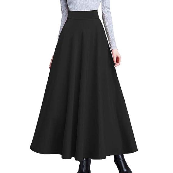 5c8a69cd6f17e1 XYUJIE Jupe Longue à Manches Longues Femme A Line Wear Jupe Longue ...