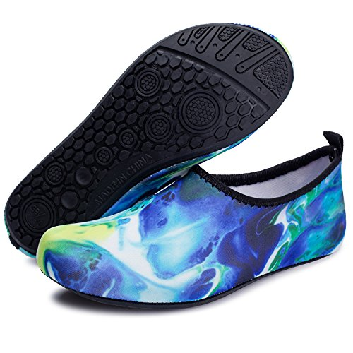 Yoga Run Skin L Shoes Swim yellow Surf for RUN Beach Shoes Unisex Blue Barefoot Water Dive w1qHO
