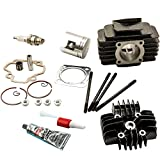 #7: Cylinder Head Piston Assembly Kit for Yamaha PW50 81-09 QT50 79-87 60cc Big Bore