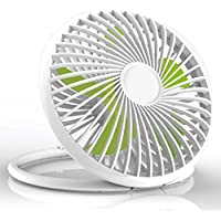 5.5 Inch USB Desk Hanging Cooling Fan with Flexible Adjustable Personal Cooling for Office,Trip,Desk,Home (White,2 Adjustable Speed)