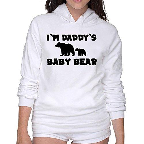 I'm Daddy's Baby Bear Womens Sweatshirts M White