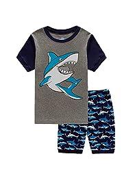 Boys Pajamas Fashion Short Sets Toddler Clothes Shark Kids Pjs Sleepwear 2 Piece