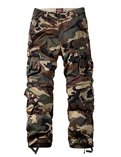 Match Men's Wild Cargo Pants #3357(Khaki camo,36)