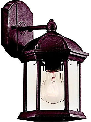 Cheap Kichler 49183TZ Barrie Outdoor Wall 1-Light, Tannery Bronze